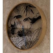 Horloge murale Tropical Birds